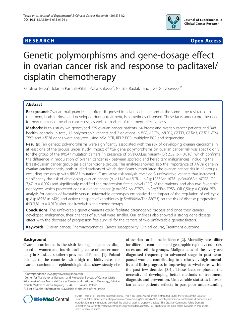 ovarian cancer journal article papilloma lingual