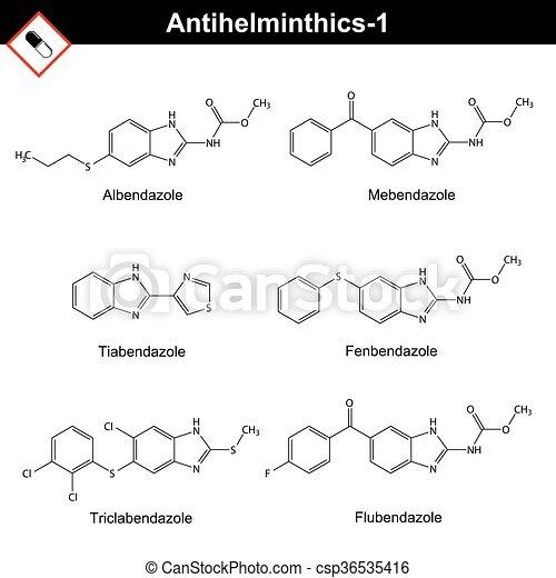 anthelmintic drugs chemical oxiuros no intestino