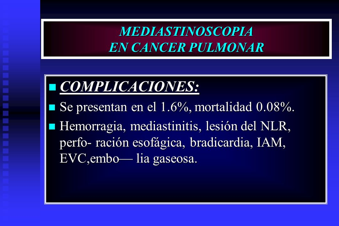 cancer pulmonar complicaciones cancer pulmonar g2