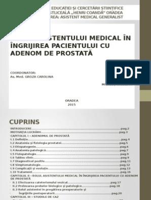 Adenomul de prostata (hipertrofia prostatica benigna)