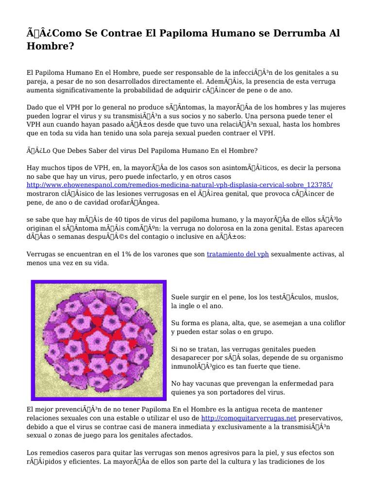 que es papiloma virus