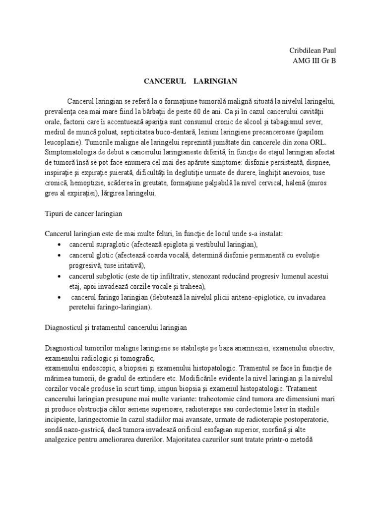 cancer faringo-laringian