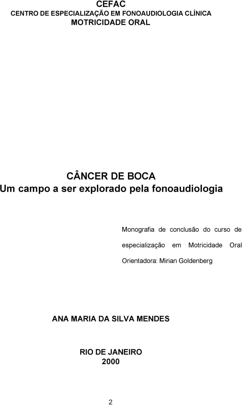 cancer bucal monografia