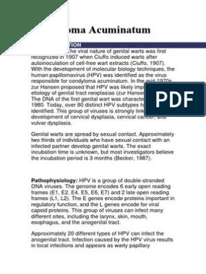 condyloma acuminata incubation period alimente pt detoxifierea organismului