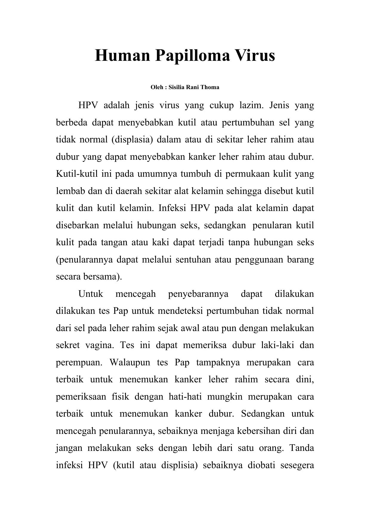 virusul papiloma uman tratament