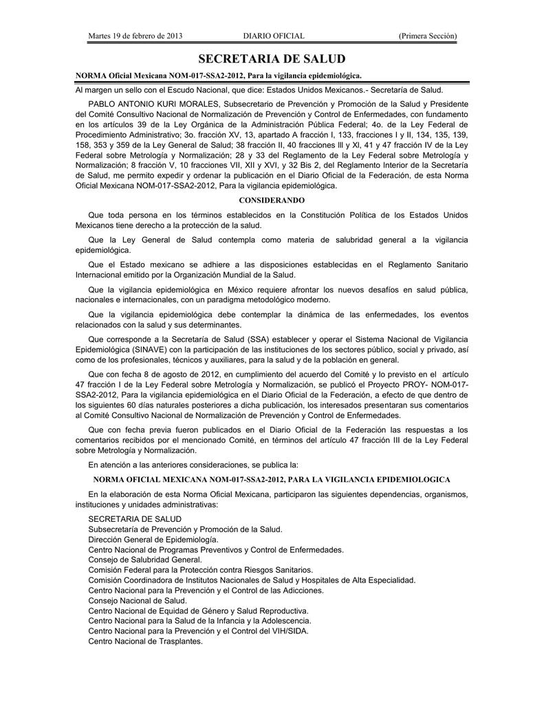 virus papiloma humano norma oficial mexicana hpv-dna pcr (human papillomavirus)