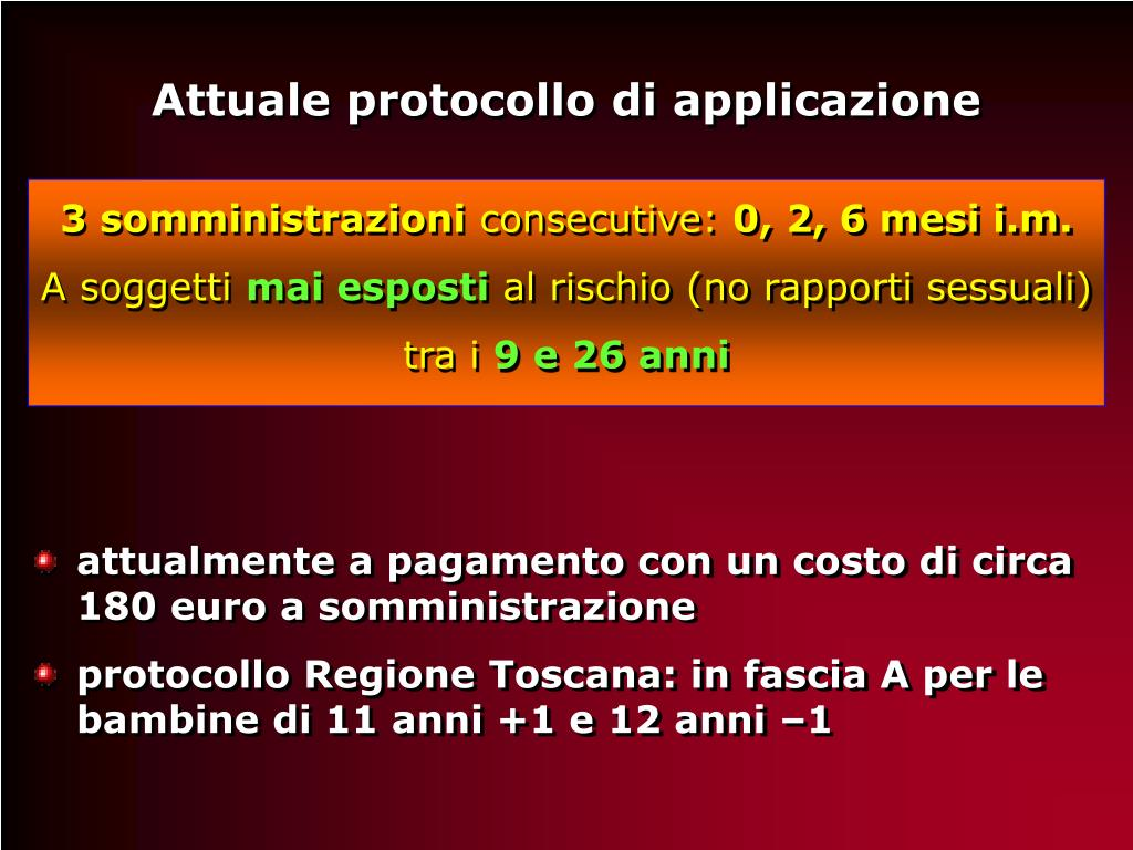 vaccino papilloma virus costo toscana paraziti pri ribah